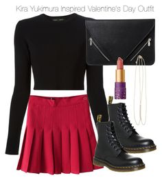 """""""Kira Yukimura Inspired Valentine's Day Outfit"""" by staystronng ❤ liked on Polyvore featuring Proenza Schouler, Dr. Martens, Zad, tarte, tw, valentinesday and Kirayukimura"""