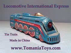 Tin Toy Locomotive International Express  MF - 804 - Made in China