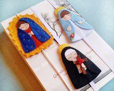 Felt Bookmark, Crochet Bookmarks, Sock Dolls, Felt Dolls, Rag Dolls, Crochet Dolls, Felt Doll Patterns, Felt Crafts Diy, Book Markers