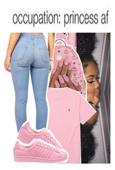 """occupation: princess af"" by ayye-emoji-queen0 ❤ liked on Polyvore featuring beauty, Nicki Minaj, MCM, Ralph Lauren and adidas Originals"
