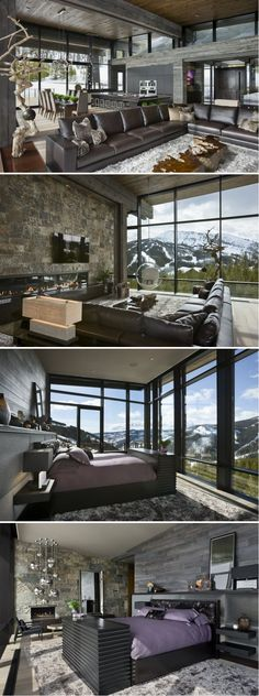 Len Cotsovolos together with LC²Design Services have completed the interior design of a private vacation home located in Big Sky, Montana.
