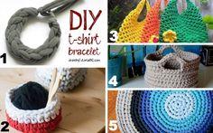 Crochet T-shirt Yarn Projects #crochet #craft