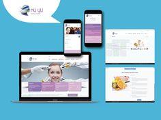 Nu Yu website design, development and mobile responsiveness. British Schools, Mobile Responsive, Marketing Branding, Medical Spa, Doha, Design Development, Creative Design, Social Media, Website