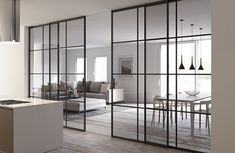 Home Room Design, Home Interior Design, Interior Decorating, Interior Modern, Modern House Design, Modern Houses, New Homes, Home Decor, Sliding Doors