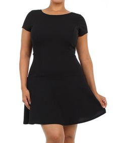 Love this Black Fit & Flare Dress - Plus by J-Mode USA Los Angeles on #zulily! #zulilyfinds