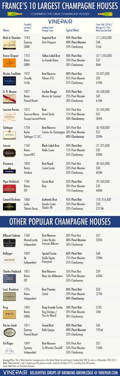 Comparing France's 10 Largest Champagne Houses [INFOGRAPHIC] | VinePair