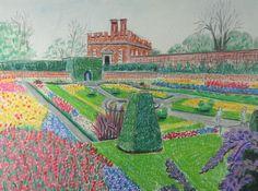 Joseph M Dunn, Hampton Court Gardens on ArtStack #joseph-m-dunn #art