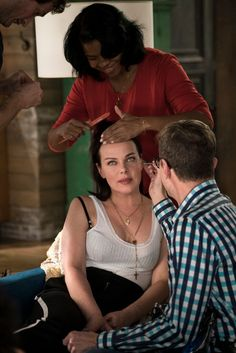 Debi Mazar on the set of Younger. Click to watch the latest episode!