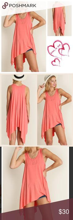 MOVING SALE OFFER 30% OFF ANY ITEM OR BUNDLE Stay Sleeveless High Low Tunic