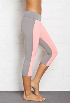 Colorblocked Workout Capris | FOREVER21 #F21Active