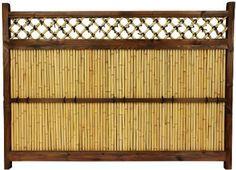 for the patio idea. Bamboo Garden Fences, Garden Fence Panels, Fence Planters, Panel W, Bamboo Poles, Bamboo Trellis, Japanese Bamboo, Japanese Fence, Japanese Garden Design