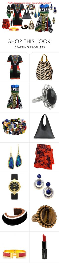 """Global INspiration"" by fab-dallas ❤ liked on Polyvore featuring Vivienne Westwood, Versace, MM6 Maison Margiela, Just Cavalli, Versus, Marni, Stephen Dweck, Hermès, Lord & Berry and Toga"