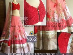 Rozdeal Pretty Red And Peach Party Wear Lehenga Choli. STYLE: Designer Lehenga FABRIC: Jacquard, Nylon Net WORK: Sequins Work, Thread Work, Multi Work COLOUR: Red, Peach OCCASION: Party, Wedding, Reception DUPATTA FABRIC: Nylon Net BLOUSE FABRIC: Net Jacquard & Row Silk INNER FABRIC: Satin
