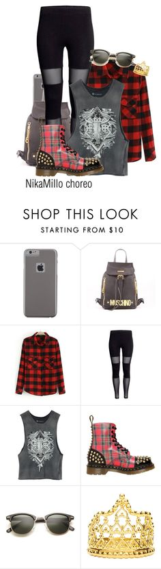"""""""Untitled #672"""" by nemes-margareta-anna ❤ liked on Polyvore featuring Case-Mate, Moschino, Element, Dr. Martens and Elizabeth Knight"""
