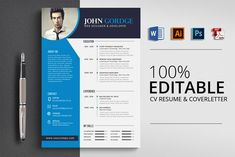 CV Resume Template Word by Psd Templates on College Resume Template, Resume Design Template, Creative Resume Templates, Cv Template, Psd Templates, Creative Cv, Design Templates, Creative Design, Job Cv