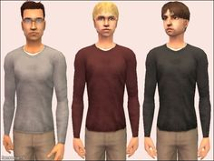 """Mod The Sims - Snuggly Little Sweaters and """"Untucked"""" Cords"""
