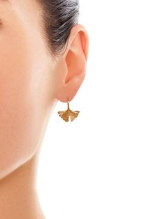 Aurélie Bidermann Ginkgo rose gold-plated earrings
