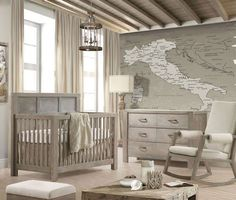 Natart Rustico 2 Piece Nursery Set-Crib and Double Dresser - Baby boy rooms - Baby Room Ideas Baby Room Neutral, Nursery Neutral, Gender Neutral, Neutral Bedding, Baby Room Themes, Baby Room Decor, Nursery Decor, Bedroom Decor, Baby Bedroom