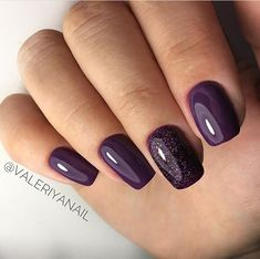 Nagel Ideen (notitle) - nägel - # nägel The Complete Range of Beauty Products from sleekhai Dark Purple Nails, Purple Acrylic Nails, Purple Nail Polish, Gel Polish, Great Nails, Cute Nails, Hair And Nails, My Nails, Oval Nails
