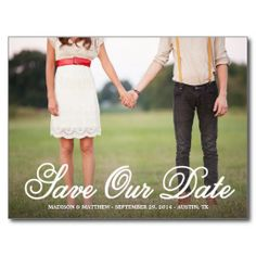 Save Our Date | Save the Date Postcard
