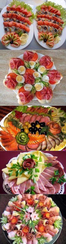 Идеи оформления мясной нарезки на праздничный стол