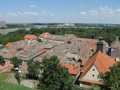 Petrovaradin Fortress  is a fortress in Novi Sad, Serbia. It is located in the province of Vojvodina, on the right bank of the Danube river. The cornerstone of the present-day southern part of the fortress was laid on October 18, 1692, by Charles Eugène de Croÿ. Petrovaradin Fortress has many underground tunnels as well (16 km of underground countermine system).