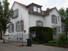 Martin Buber's house in Heppenheim, Germany. Now the headquarters of the International Council of Christians and Jews. Martin Buber, Houses In Germany, Christianity, Germania, Europe, Mansions, House Styles, Austria, Switzerland