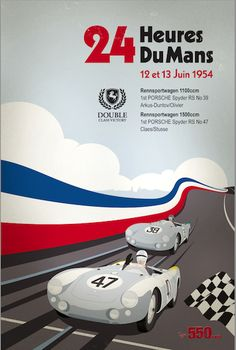 This will be the first of 5 Porsche vintage racing posters which will be available from type550.com