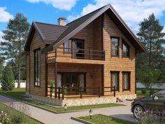 Wooden House Design, 2 Storey House Design, Small House Design, Village House Design, Bungalow House Design, Rustic House Plans, Small House Plans, Building Design, Building A House