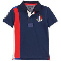 Tommy Hilfiger - Polo en piqué de coton bleu marine - La France (127040) - 58831
