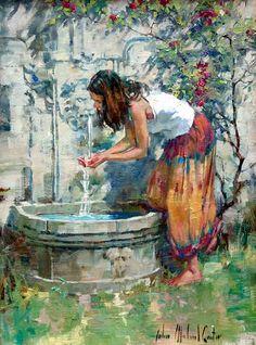 John Michael Carter 1950 - American Impressionist Figurative painter - Karolina Kajtek - Google+