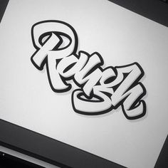Rough by melvastype. | #type rough #chunky #graffiti