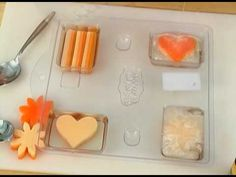 Soap Queen TV Episode 15: Graduated Colors. She uses a large cookie pan and pour the soap in then uses cookie cutters to cut shapes out.