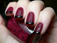 Fish net nails going to do these nails for valentines day and adding a kiss