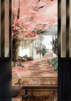 Rose Bush Care - So That You Can Have The Top Rose Bushes Dreamlike, Tranquil Japanese Insideoutside Design Fantasy Landscape, Landscape Art, Fantasy Kunst, Fantasy Art, Chinese Background, Graphisches Design, Art Asiatique, Anime Scenery Wallpaper, Japan Art
