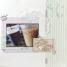 Coffee now, sleep later! ALWAYS! FabScraps C103 Coffee Confessions collection.