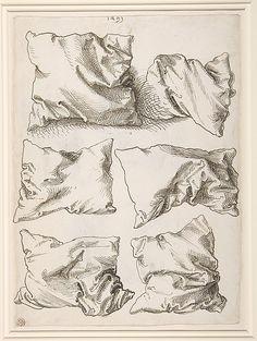Albrecht Dürer, Six Studies of Pillows, 1493