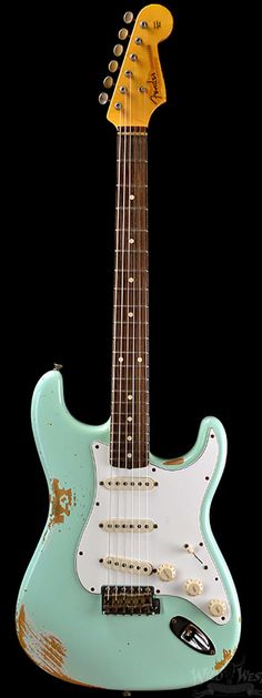 Fender 1960 Stratocaster Heavy Relic Surf Green - Wild West Guitars