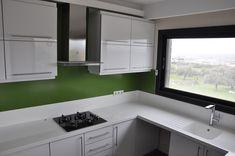 Akrilik Mutfak Tezgahı Koleksiyonundan güzel bir çalışma.. #Dupont Corian #solidsurfaces #glacierwhite #Bloominggreen #akriliktezgahı #mutfaktezgahı #corianizmir #turuncudekorasyon #izmir #mavişehir #coriandesign #design #decoration #designer #coriançeşme #mutfaktezgahıizmir #kitchencountertops # Kitchen Cabinets, Home Decor, Decoration Home, Room Decor, Cabinets, Home Interior Design, Dressers, Home Decoration, Kitchen Cupboards
