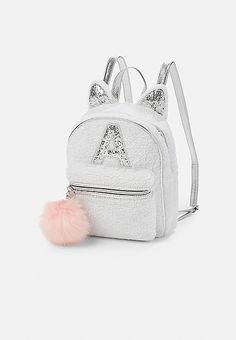 Justice is your one-stop-shop for on-trend styles in tween girls clothing & accessories. Shop our Sherpa Kitty Initial Mini Backpack. Cute Mini Backpacks, Stylish Backpacks, Girl Backpacks, Mini Backpack Purse, Sequin Backpack, Leather Backpack, Justice Backpacks, Justice Bags, Fashion Bags