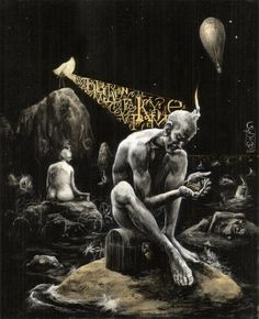 Poet of the Moon | Santiago Caruso