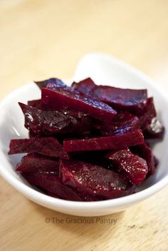Oh how I love beets! Make them tonight for your salad tomorrow! Clean Eating Citrus Marinated Beets via Nickles Valk Chuah Gracious Pantry (Tiffany McCauley) Beet Recipes, Vegetable Recipes, Real Food Recipes, Cooking Recipes, Yummy Food, Healthy Recipes, Healthy Foods, Clean Eating Recipes, Healthy Eating