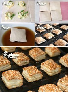 Crispy Puff Pastry Bagel Recipe (Video) - Recipes for Women, Pastry Recipes, Cake Recipes, Cooking Recipes, Cakes Originales, Pizza Pastry, Bagel Recipe, Puff Recipe, Tasty, Yummy Food