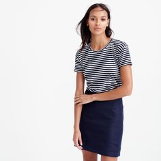 """Made from our soft drapey linen, this T-shirt ranks right up there with trench coats and rain boots when it comes to our favorite spring classics. And since the fabric is on the more delicate side, we recommend washing by hand.<ul><li>Slightly loose fit.</li><li>Body length: 23 3/4"""".</li><li>Linen.</li><li>Hand wash.</li><li>Import.</li></ul>"""