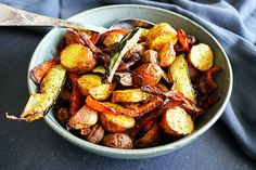 een perfect bijgerecht deze krieltjes en geroosterde groenten uit de airfryer!