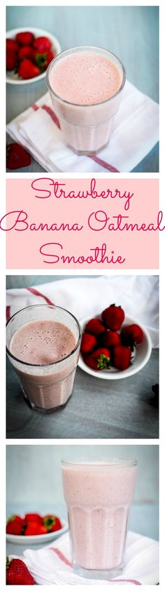 Have you all introduced your kids to smoothies yet? It is one of the best ways to add in some greens and many other nutritious ingredients which they otherwise wont eat. Today i made a super delicious and easy Strawberry Banana Oatmeal smoothie apt for t Fitness Smoothies, Workout Smoothie, Smoothie Recipes For Kids, Smoothies For Kids, Yummy Smoothies, Nutritious Smoothies, Healthy Shakes, Healthy Drinks, Healthy Recipes