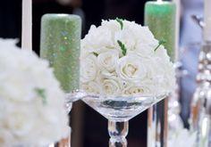 Flower decor at Winter Wedding