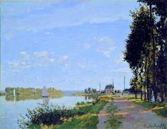 The Promenade at Argenteuil, 1872 by Claude Monet. Impressionism. landscape