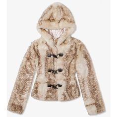 Hooded Faux Fur Jacket   FOREVER21 - 2027706184 ($60) ❤ liked on Polyvore