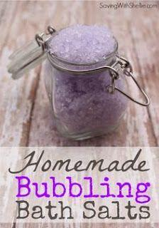 Homemade Bubbling Bath Salts